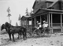 Ambrose Kiehl and Family outside their Fort lawton Officer's Row home. They were the first occupants and lived there from 1899 until 1905. Photo courtesy of Paul Dorpat.